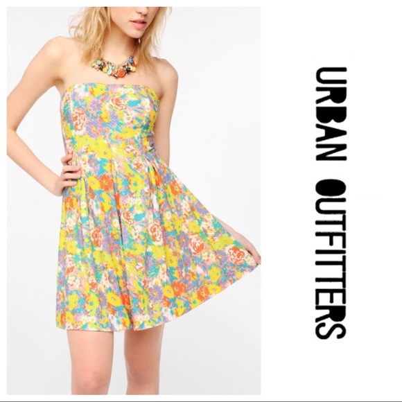 Urban Outfitters Dresses & Skirts - 🆑 Cooperative Textured Strapless Skater Dress